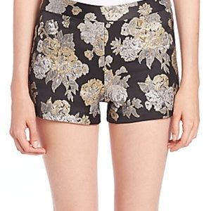 In search of Alice Olivia floral shorts gold